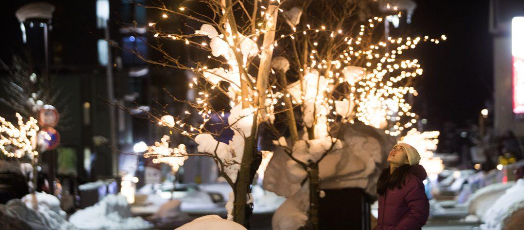 Kilauan Lampu Natal dan Tahun Baru di Niseko Jepang Bikin Takjub